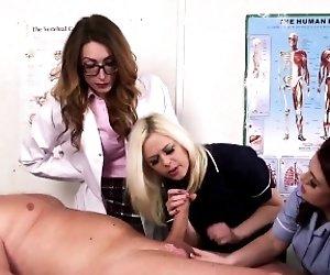 Femdom CFNM doctor sucking...