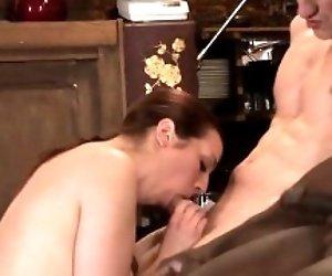 Hot pornstar dp with cumshot