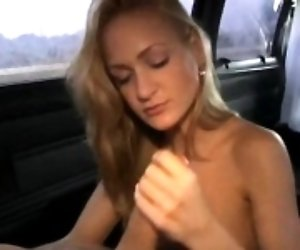 Appealing hand and blow job
